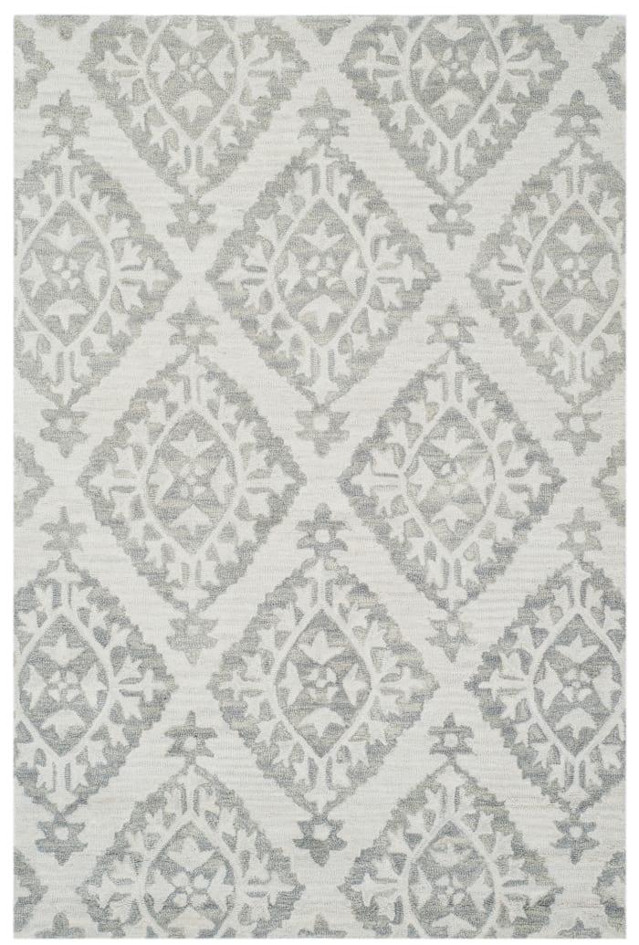 Essence 210 3' X 5' Gray Wool Rug