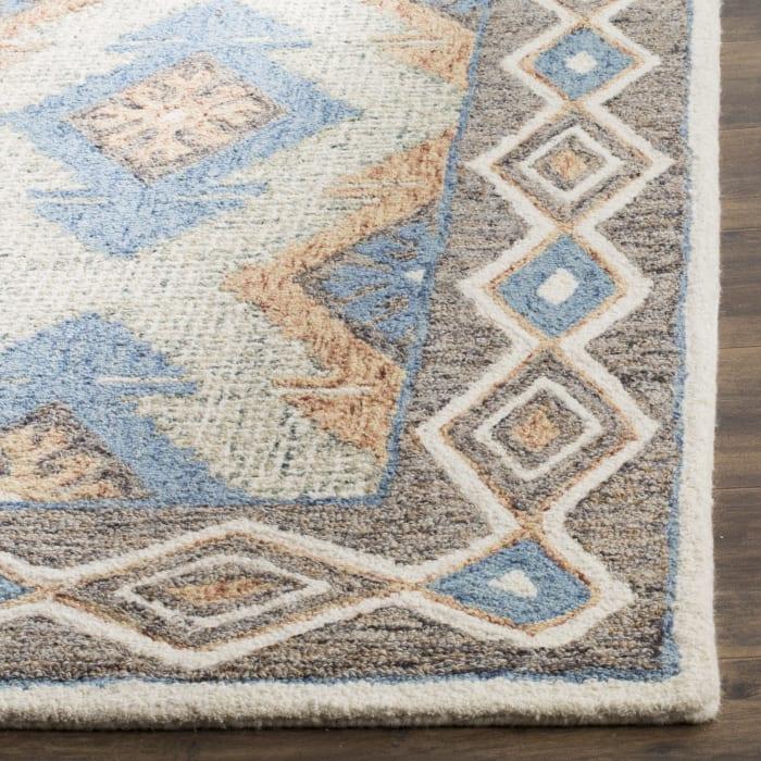 Essence 401 8' X 10' Blue Wool Rug