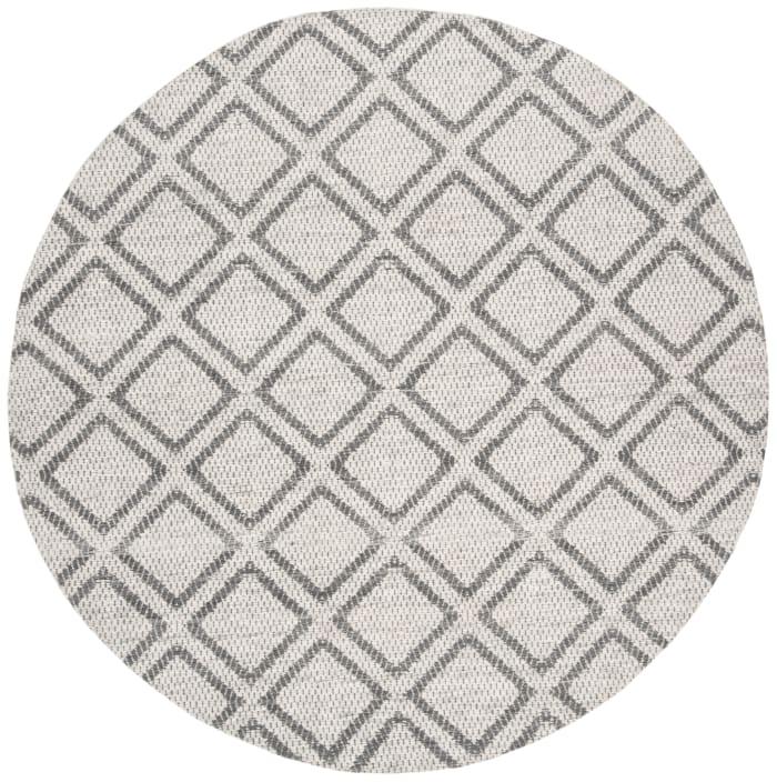 Essence 514 5' X 5' Round Silver Wool Rug