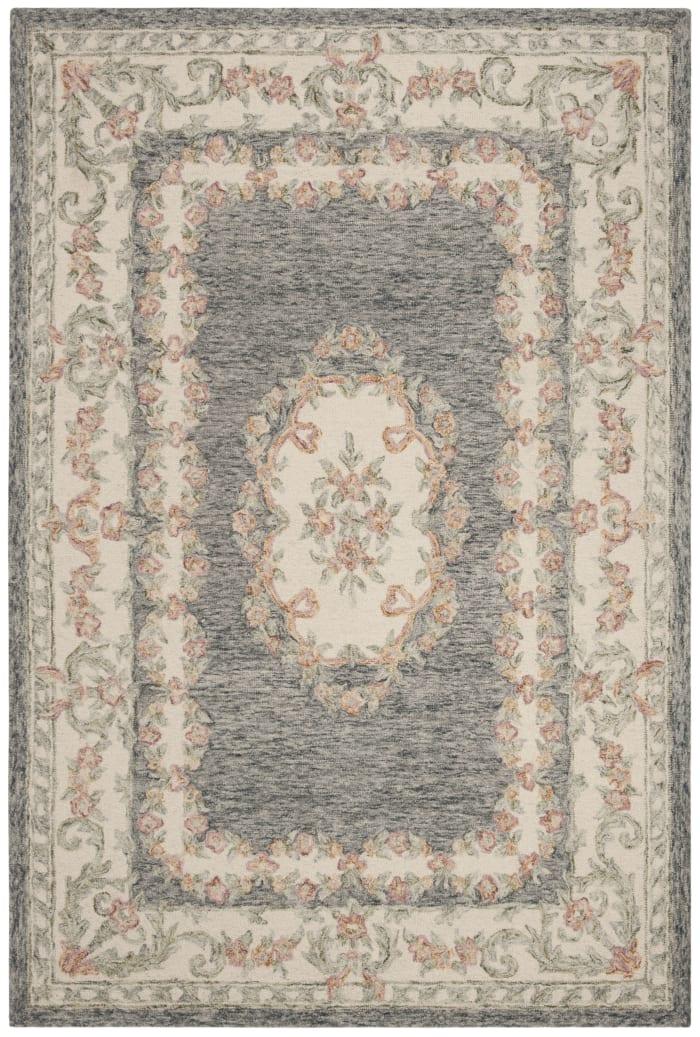 Essence 903 5' X 8' Gray Wool Rug