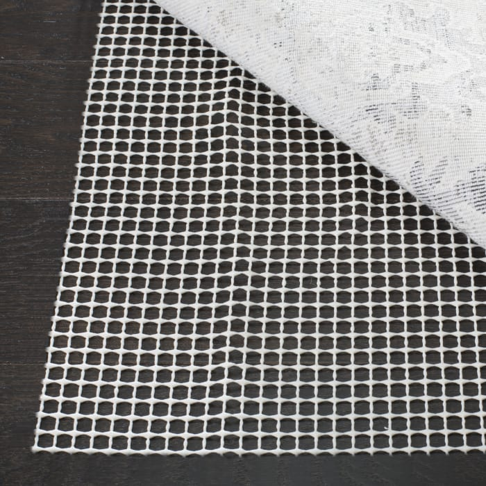 Grid Pad 2' X 16' Ivory Polyester Rug
