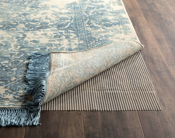 Grid Pad 8' X 11' Ivory Polyester Rug