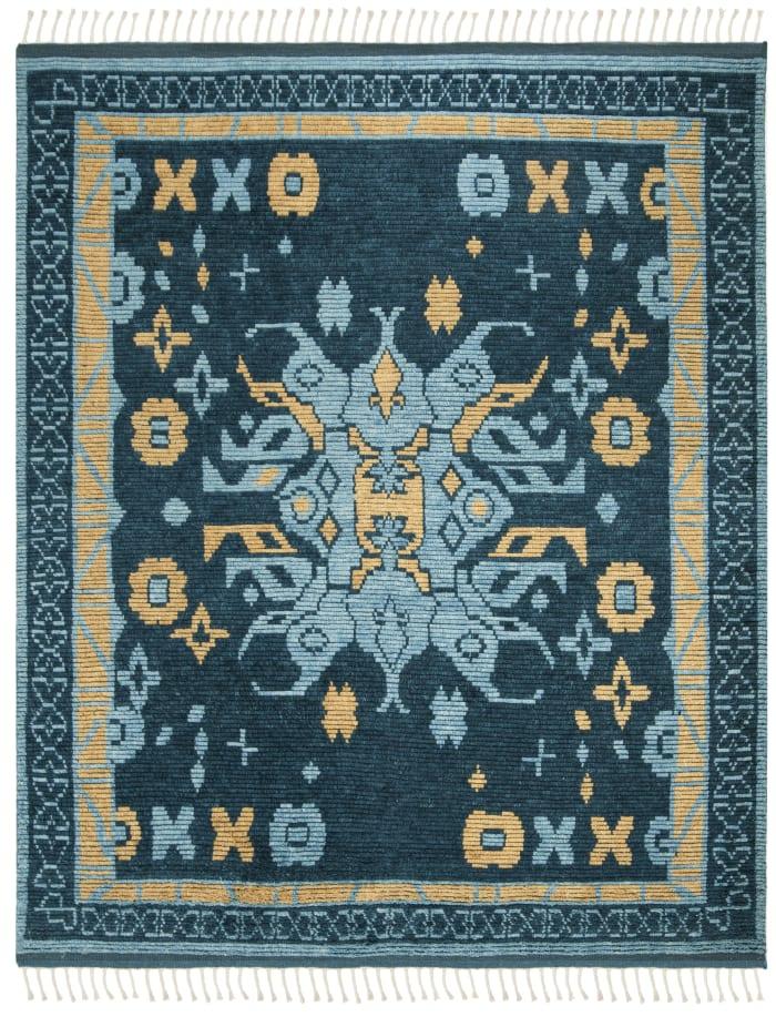 Gypsy 112 6' X 9' Blue Wool Rug