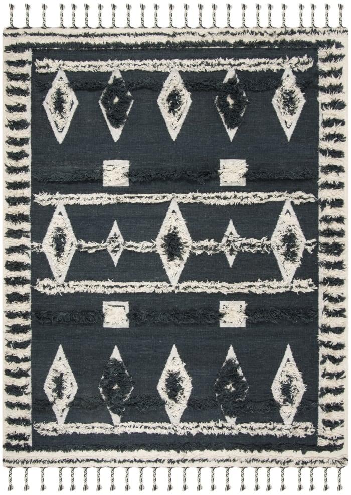 Gypsy 601 9' X 12' Black Wool Rug