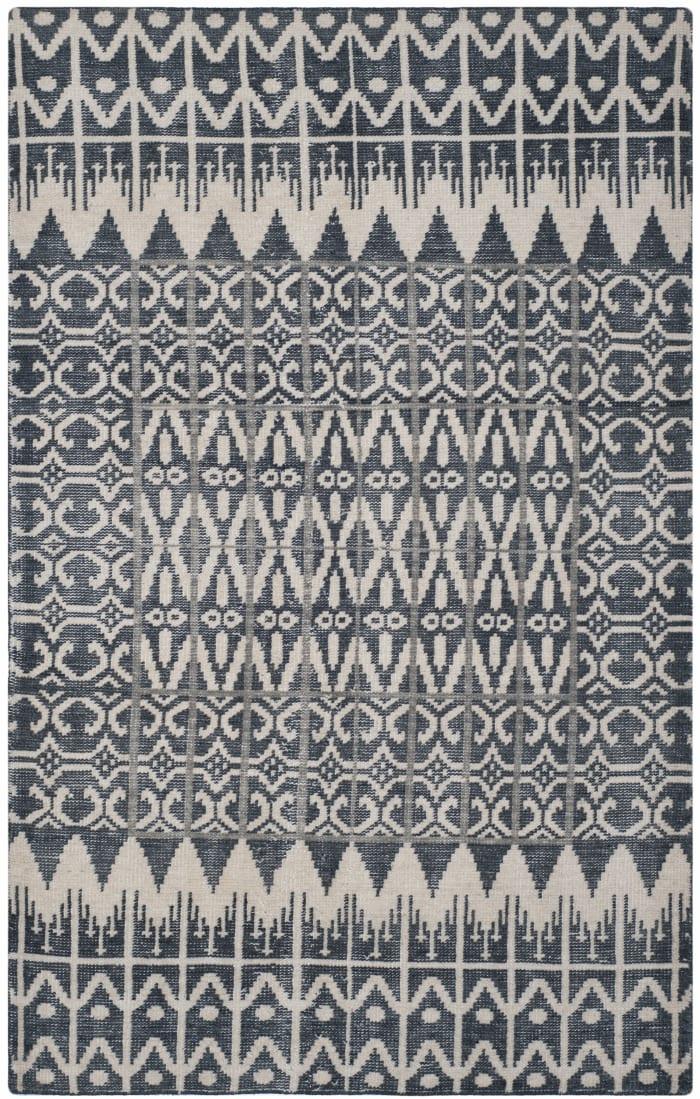 Gypsy 606 6' X 9' Black Wool Rug