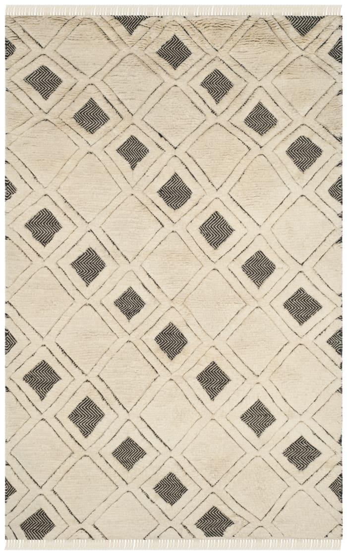 Gypsy 805 5' X 8' Ivory Wool Rug