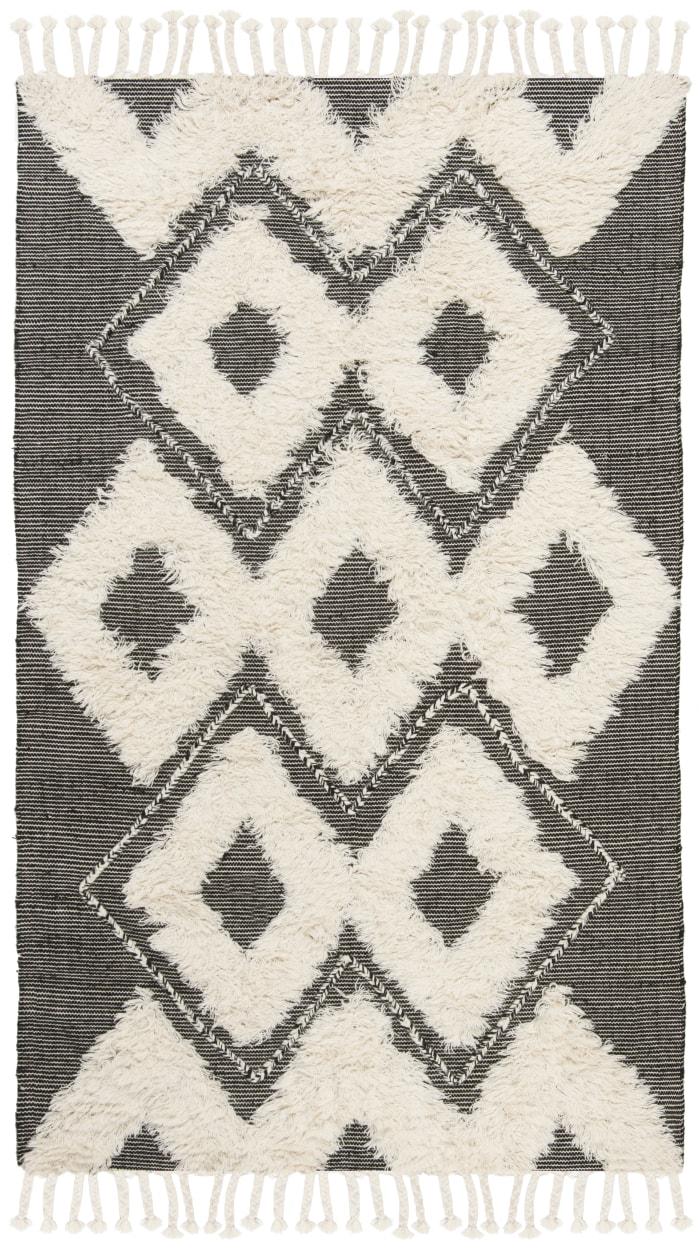 Gypsy 903 5' X 8' Black Wool Rug