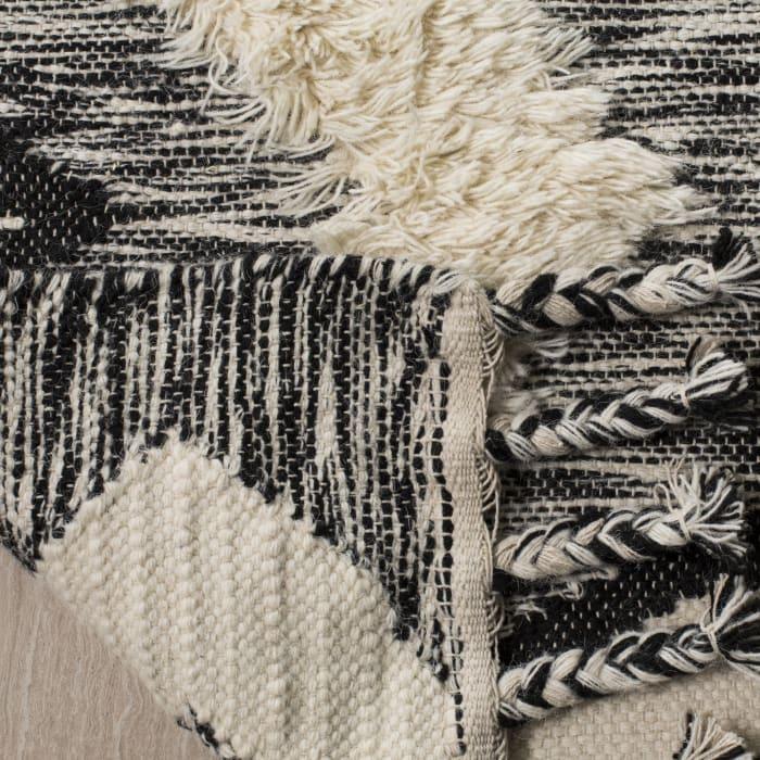 Black Wool Rug 9' x 12'