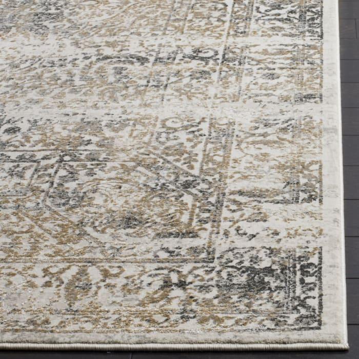 Haden 711 4' X 6' Gray Polyester Rug