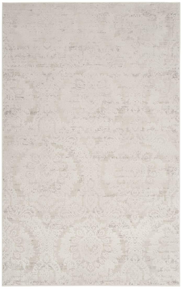 Haden 717 4' X 6' Silver Polyester Rug