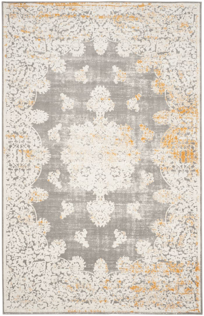 Jennifer 406 9' X 12' Gray Polypropylene Rug