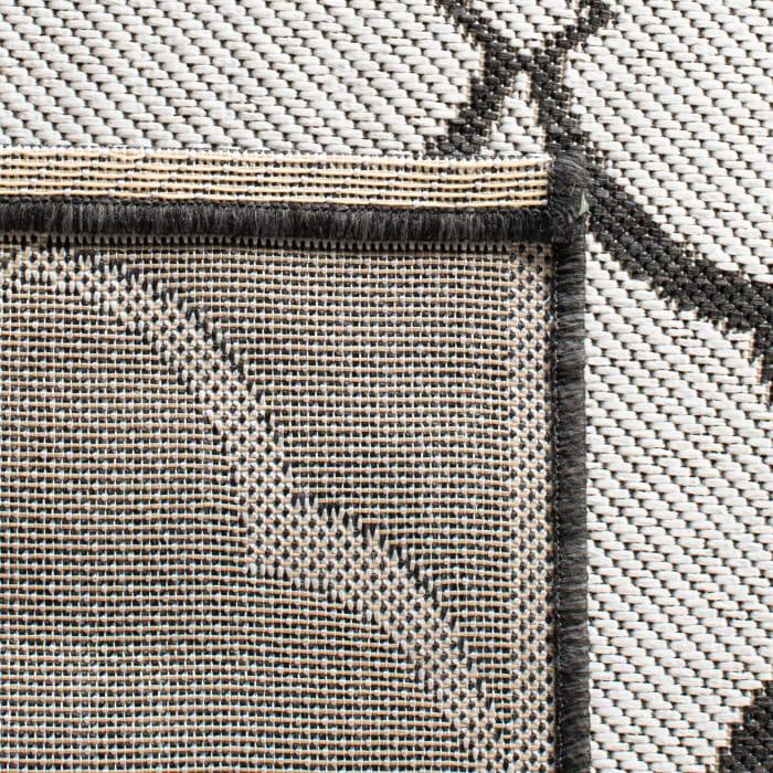 Gray Polypropylene Rug 4' x 6'
