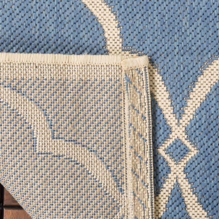 Square Blue Polypropylene Rug 6' x 6'