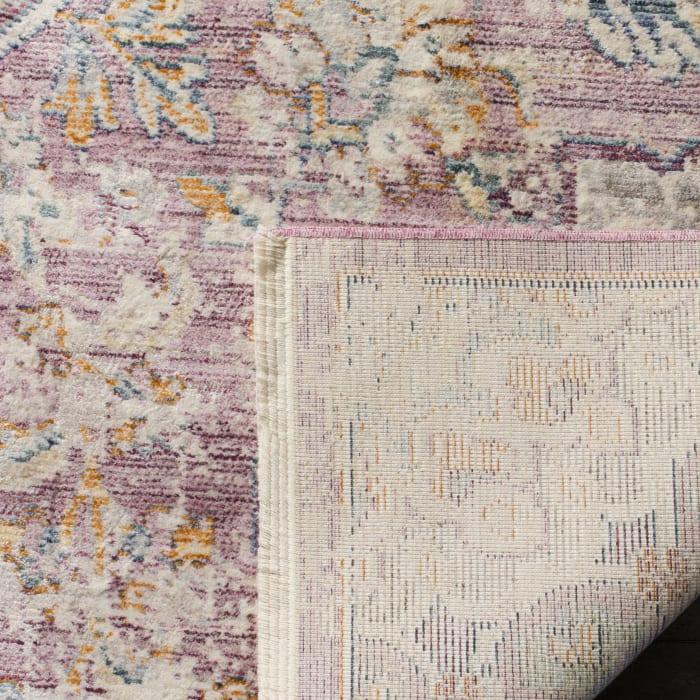 Marseilla 711 4' X 6' White Viscose Rug