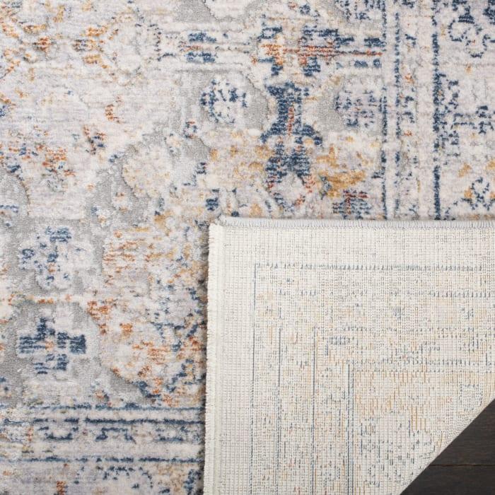 Montgomery 348 4' X 6' Gray Polyester Rug