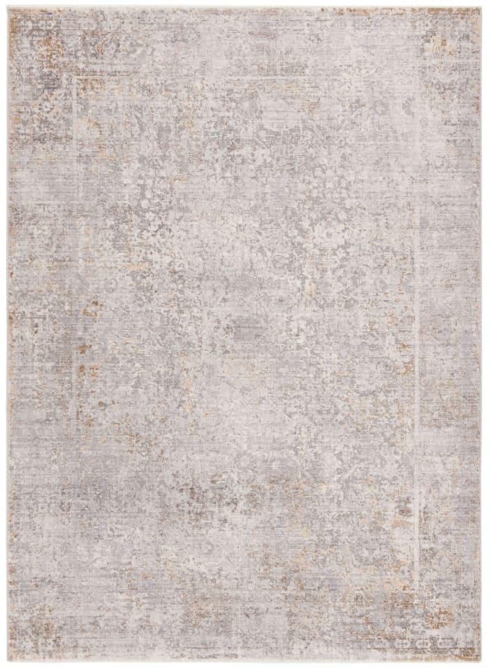 Gray Polyester Rug 4' x 6'