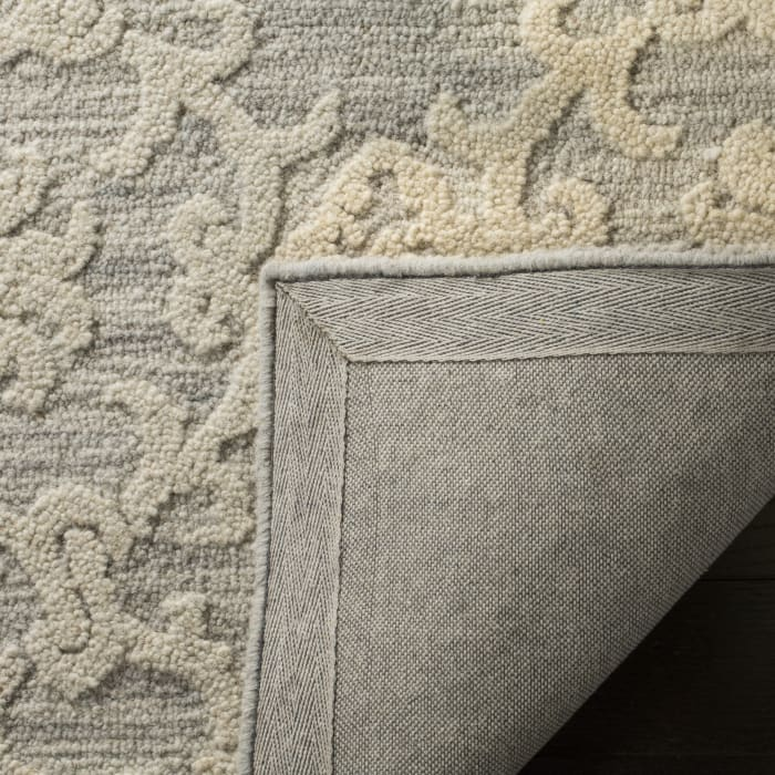 Morgan 104 4' X 6' Gray Wool Rug