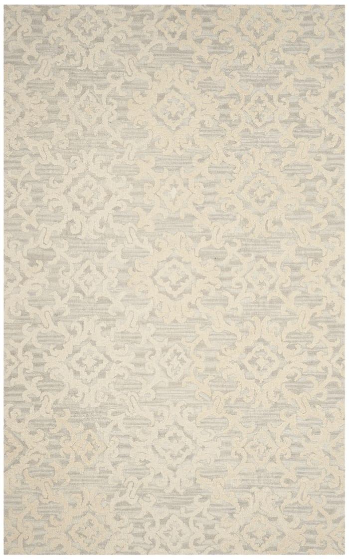 Morgan 104 5' X 8' Gray Wool Rug