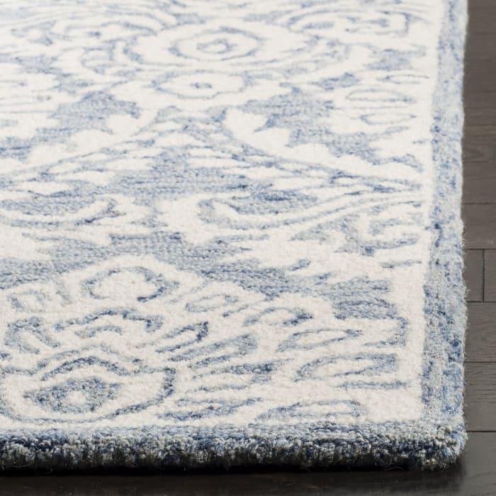 Morgan 106 5' X 8' Blue Wool Rug