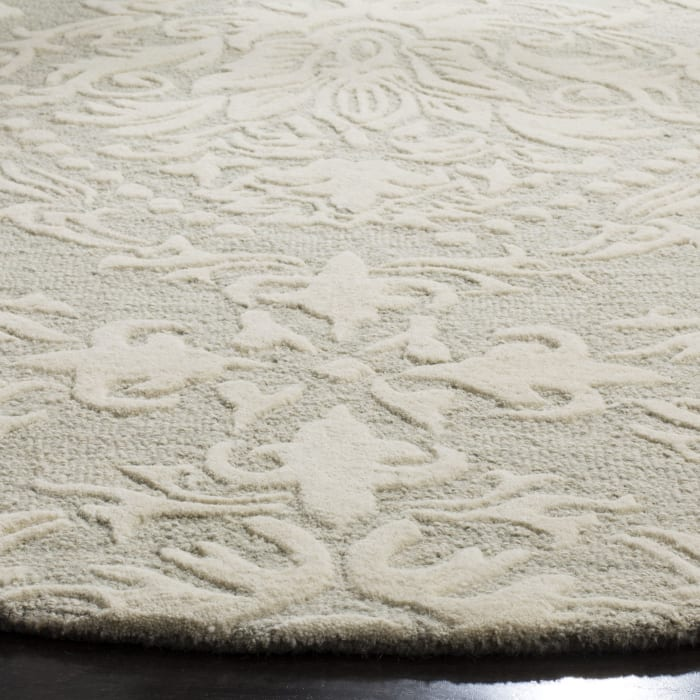 Morgan 107 6' X 6' Round Sage Wool Rug