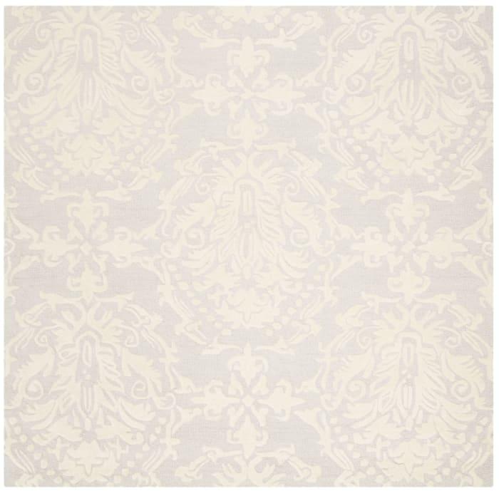 Morgan 107 6' X 6' Square Gray Wool Rug