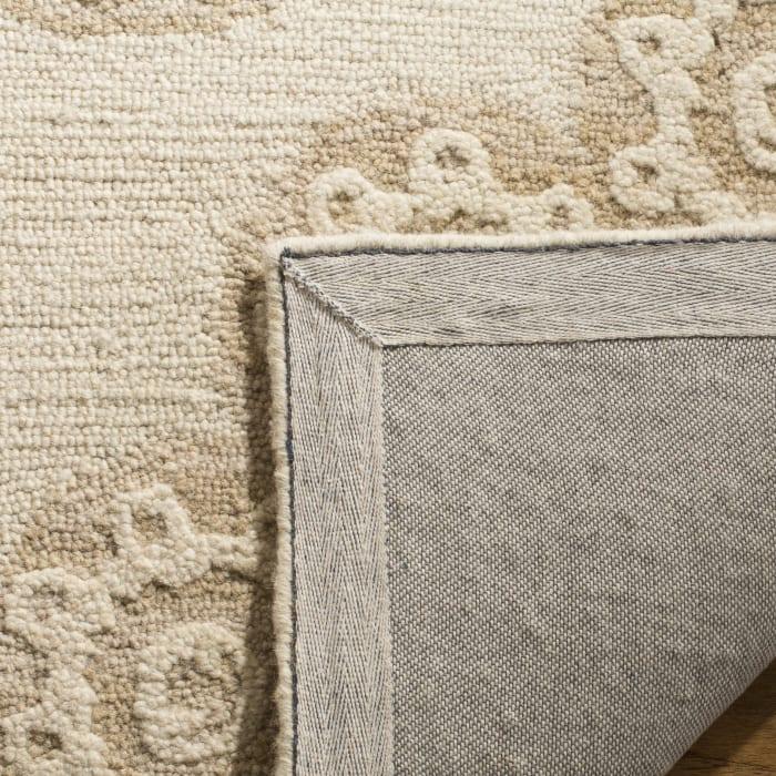 Morgan 108 6' X 6' Square Ivory Wool Rug
