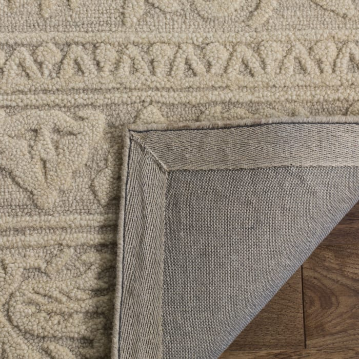Morgan 109 6' X 6' Round Gray Wool Rug