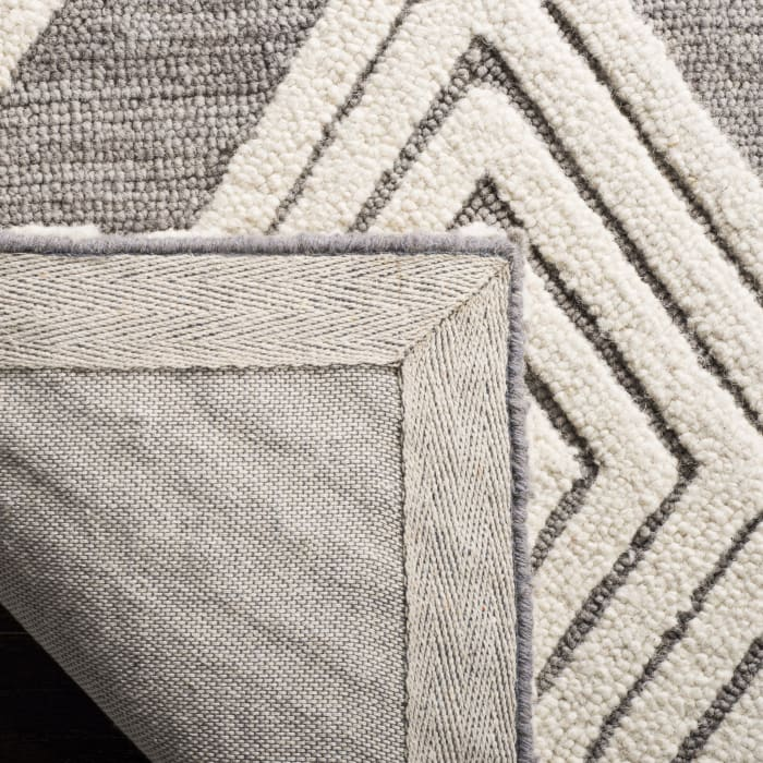 Morgan 111 6' X 6' Round Gray Wool Rug