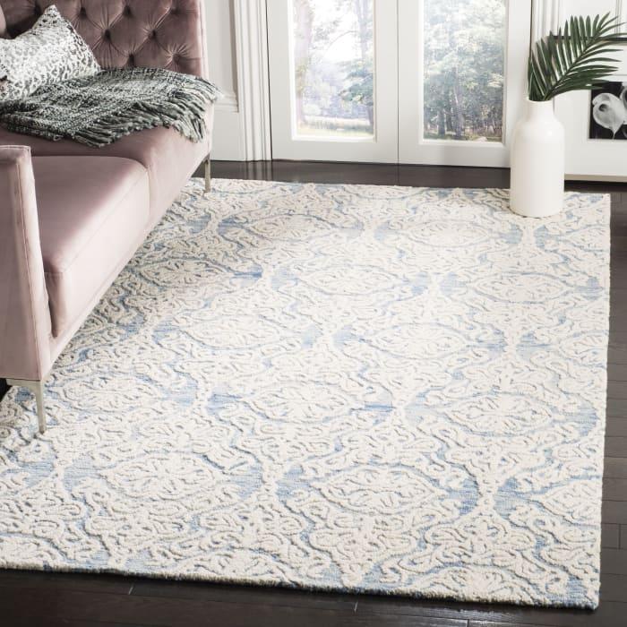 Morgan 112 6' X 6' Square Blue Wool Rug