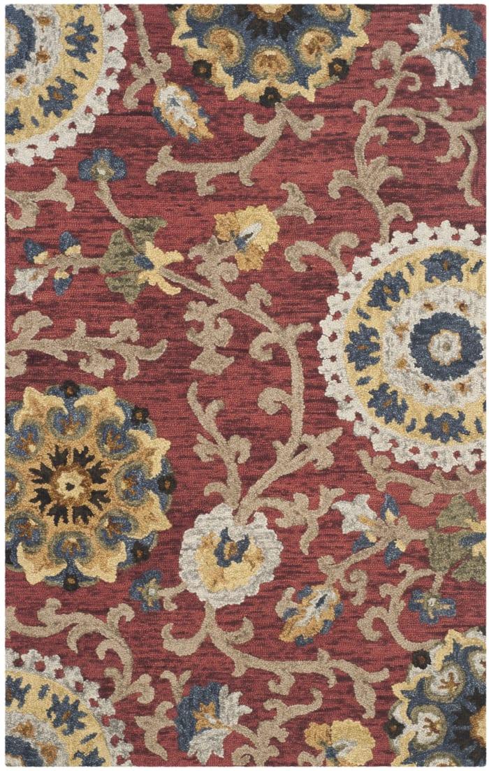 Morgan 401 5' X 8' Red Wool Rug