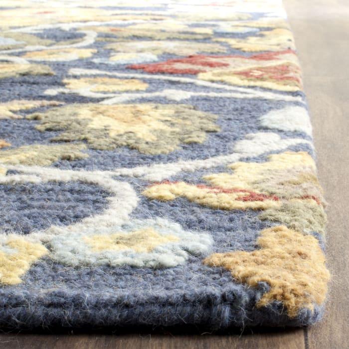 Morgan 402 5' X 8' Navy Wool Rug