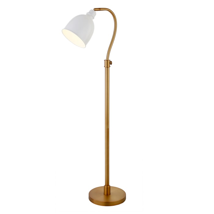 Gogh Arc Floor Lamp in Matte White
