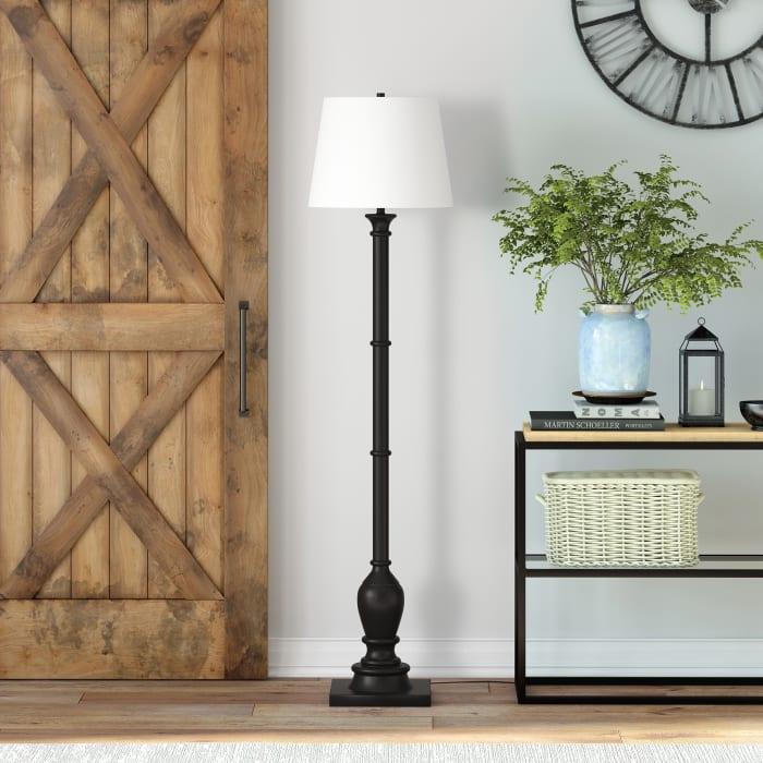 Farmhouse Floor Lamp in Blackened Bronze