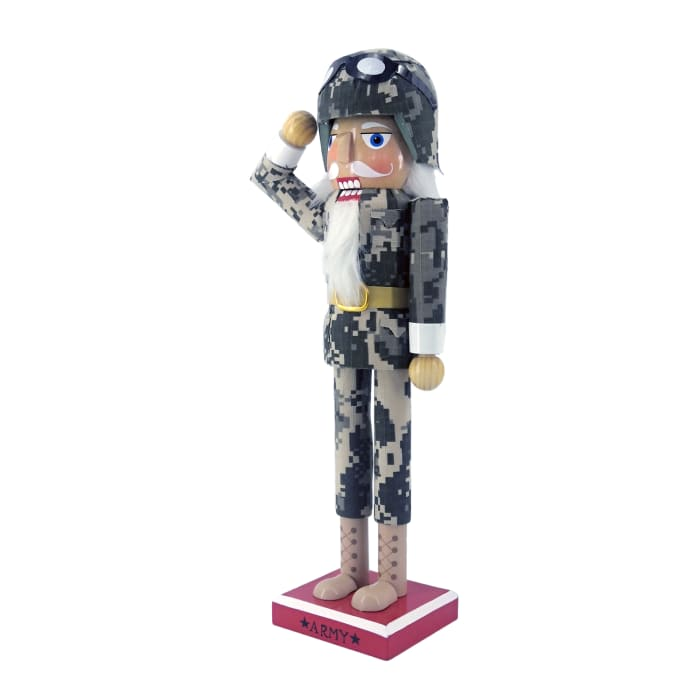 Army Soldier in Fatigues Christmas Nutcracker