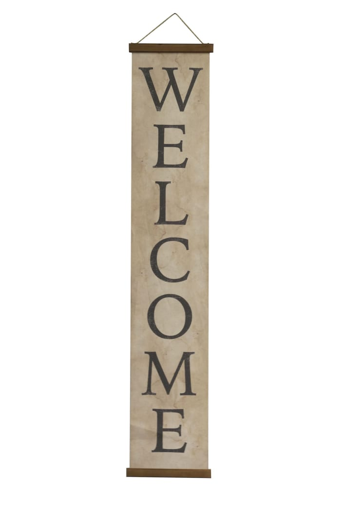 Decorative Canvas Welcome Banner