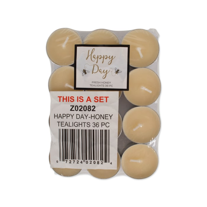 Happy Day -Honey  Tealights 36 Pc
