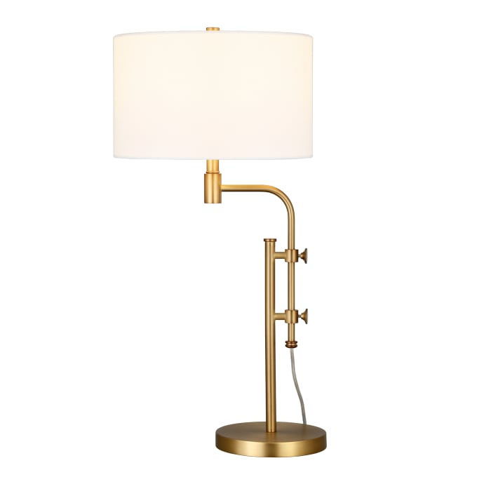 Shelby Height-Adjustable Table Lamp in Brass
