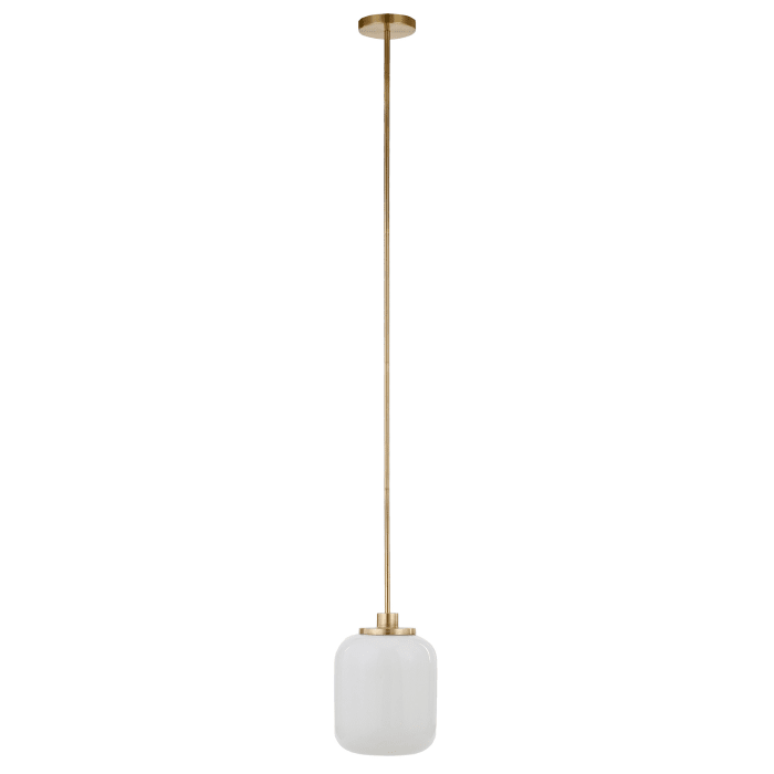 Appletree Pendant Light in Brass with Milk Glass