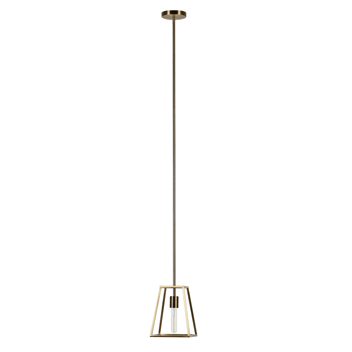Rhombus Open-Framed Pendant in Brass