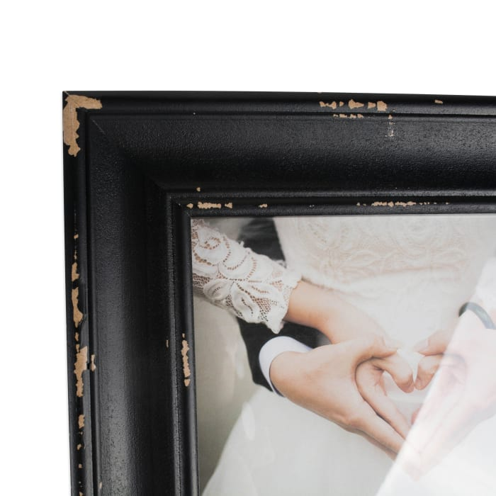 5x7 Distressed Black Farmhouse Picture Frame