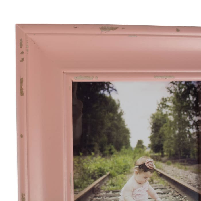 5x7 Distressed Blush Farmhouse Picture Frame