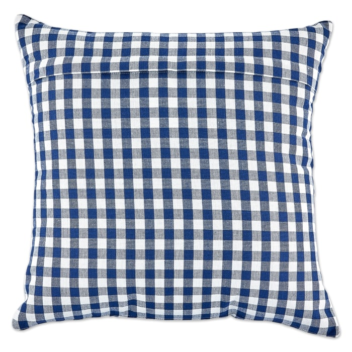 Assorted Navy/Off White Gingham/Buffalo Check Pillow Cover 18x18 Set/4