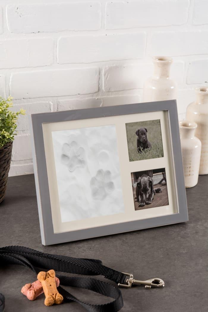 Pet Keepsake Frame Distressed White