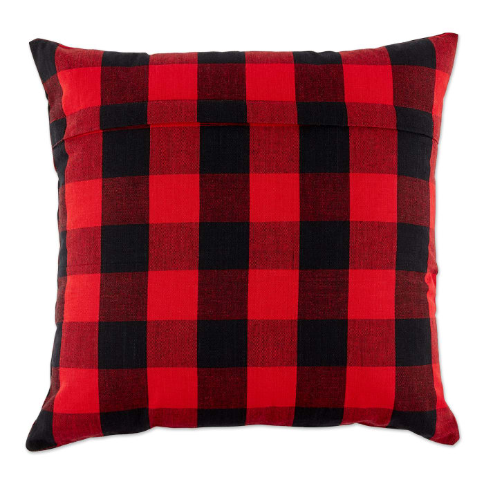 Red/Black Gingham/Buffalo Check Pillow Cover 18x18 Set/4