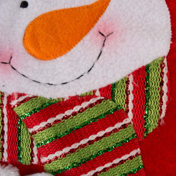 Santa And Snowman Stocking (Set of 2)