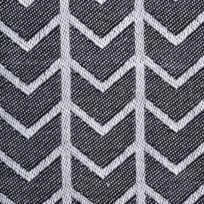 Black & White Herringbone Napkin (Set of 6)