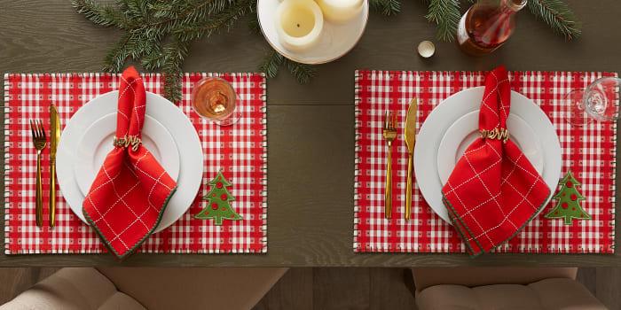 Joyful Snowflakes Jacquard Kitchen Collection, Napkin Set, 6 Piece