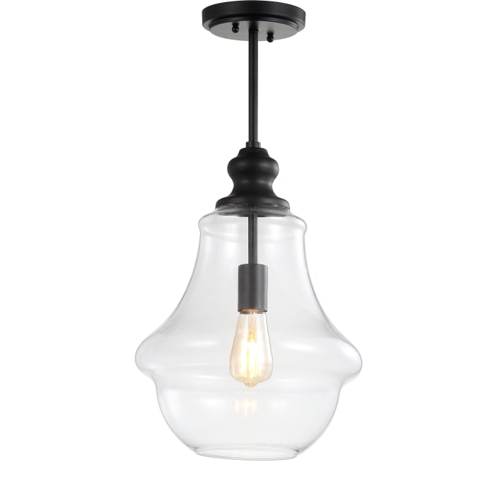 Adjustable Metal/Glass LED Pendant, Oil Rubbed Bronze