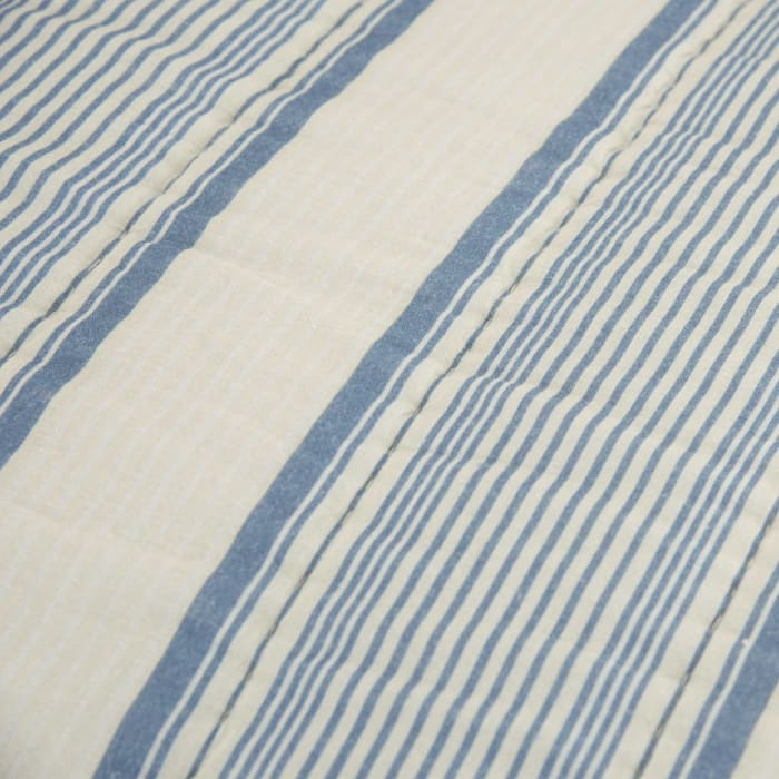 Blue/Ivory 100% Cotton Stripe 68
