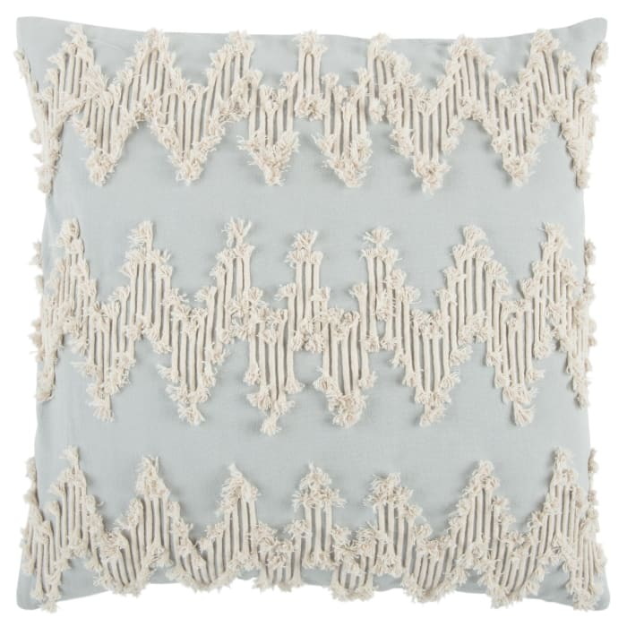 Chevron Light Blue Filled Pillow